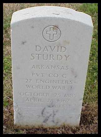 STURDY (VETERAN WWI), DAVID - Pulaski County, Arkansas | DAVID STURDY (VETERAN WWI) - Arkansas Gravestone Photos