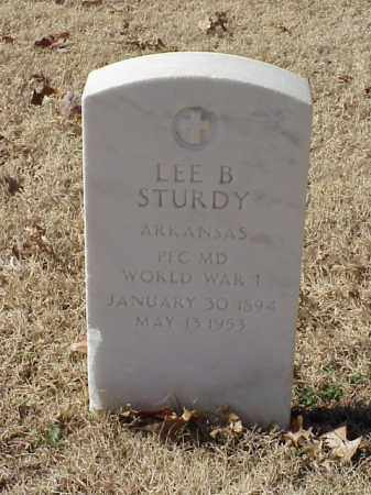 STURDY (VETERAN WWI), LEE B - Pulaski County, Arkansas | LEE B STURDY (VETERAN WWI) - Arkansas Gravestone Photos