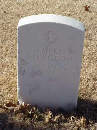 STURGEON (VETERAN WWI), EMBEE - Pulaski County, Arkansas | EMBEE STURGEON (VETERAN WWI) - Arkansas Gravestone Photos