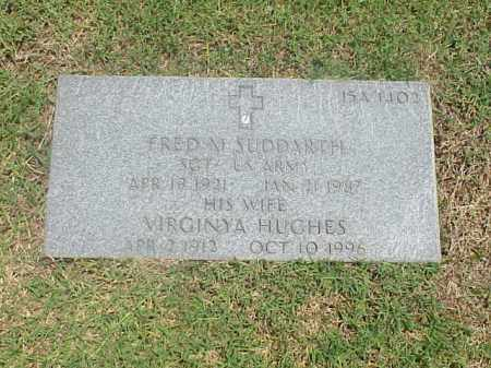 SUDDARTH (VETERAN WWII), FRED M - Pulaski County, Arkansas | FRED M SUDDARTH (VETERAN WWII) - Arkansas Gravestone Photos
