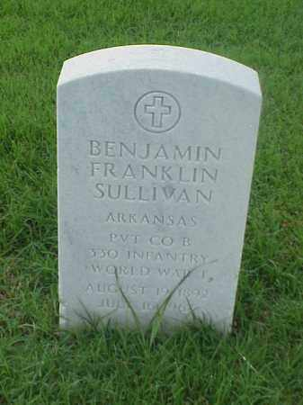 SULLIVAN (VETERAN WWI), BENJAMIN FRANKLIN - Pulaski County, Arkansas | BENJAMIN FRANKLIN SULLIVAN (VETERAN WWI) - Arkansas Gravestone Photos