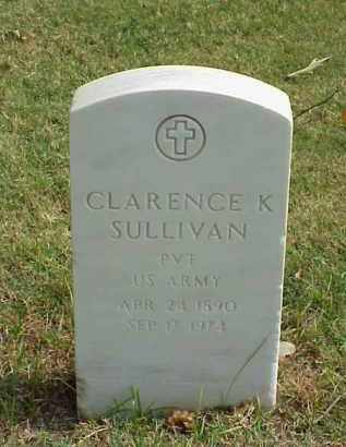 SULLIVAN (VETERAN WWI), CLARENCE K - Pulaski County, Arkansas | CLARENCE K SULLIVAN (VETERAN WWI) - Arkansas Gravestone Photos