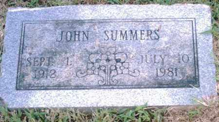 SUMMERS, JOHN - Pulaski County, Arkansas | JOHN SUMMERS - Arkansas Gravestone Photos