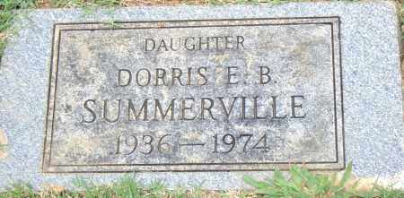 SUMMERVILLE, DORRIS  E. B. - Pulaski County, Arkansas | DORRIS  E. B. SUMMERVILLE - Arkansas Gravestone Photos