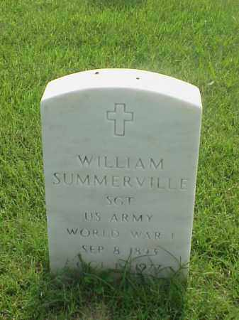 SUMMERVILLE (VETERAN WWI), WILLIAM - Pulaski County, Arkansas | WILLIAM SUMMERVILLE (VETERAN WWI) - Arkansas Gravestone Photos
