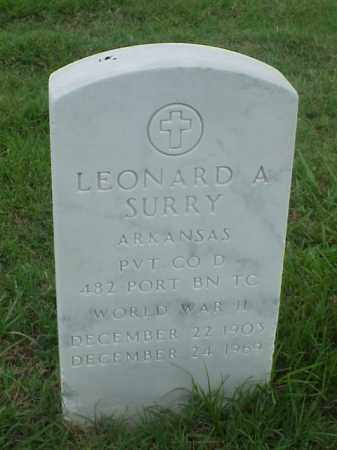 SURRY (VETERAN WWII), LEONARD A - Pulaski County, Arkansas | LEONARD A SURRY (VETERAN WWII) - Arkansas Gravestone Photos