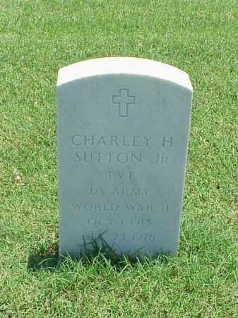 SUTTON, JR (VETERAN WWII), CHARLEY H - Pulaski County, Arkansas | CHARLEY H SUTTON, JR (VETERAN WWII) - Arkansas Gravestone Photos