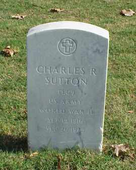SUTTON (VETERAN WWII), CHARLES R - Pulaski County, Arkansas | CHARLES R SUTTON (VETERAN WWII) - Arkansas Gravestone Photos
