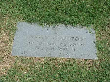 SUTTON (VETERAN WWII), JOSEPH W - Pulaski County, Arkansas | JOSEPH W SUTTON (VETERAN WWII) - Arkansas Gravestone Photos