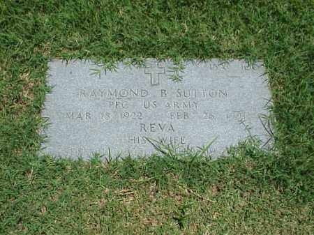 SUTTON (VETERAN WWII), RAYMOND B - Pulaski County, Arkansas | RAYMOND B SUTTON (VETERAN WWII) - Arkansas Gravestone Photos