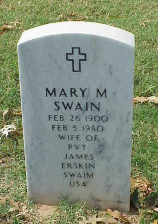 SWAIN, MARY M - Pulaski County, Arkansas | MARY M SWAIN - Arkansas Gravestone Photos