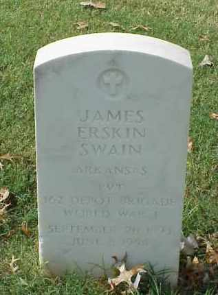 SWAIN (VETERAN WWI), JAMES ERSKIN - Pulaski County, Arkansas | JAMES ERSKIN SWAIN (VETERAN WWI) - Arkansas Gravestone Photos