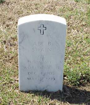SWAIN (VETERAN WWII), ABE B - Pulaski County, Arkansas | ABE B SWAIN (VETERAN WWII) - Arkansas Gravestone Photos