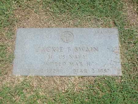 SWAIN (VETERAN WWII), JACKIE B - Pulaski County, Arkansas | JACKIE B SWAIN (VETERAN WWII) - Arkansas Gravestone Photos