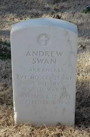 SWAN (VETERAN WWII), ANDREW - Pulaski County, Arkansas | ANDREW SWAN (VETERAN WWII) - Arkansas Gravestone Photos