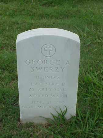 SWERZY (VETERAN WWI), GEORGE A - Pulaski County, Arkansas | GEORGE A SWERZY (VETERAN WWI) - Arkansas Gravestone Photos