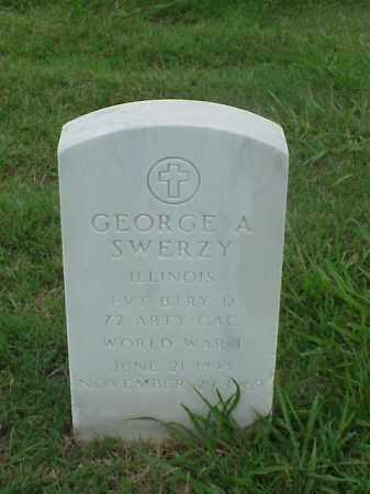 SWERZY (VETERAN WWI), GEORGE A - Pulaski County, Arkansas   GEORGE A SWERZY (VETERAN WWI) - Arkansas Gravestone Photos