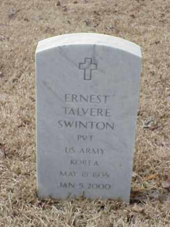 SWINTON  (VETERAN KOR), ERNEST TALVERE - Pulaski County, Arkansas | ERNEST TALVERE SWINTON  (VETERAN KOR) - Arkansas Gravestone Photos