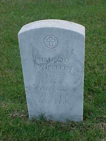 SWINTON  (VETERAN WWII), NIMROD - Pulaski County, Arkansas | NIMROD SWINTON  (VETERAN WWII) - Arkansas Gravestone Photos
