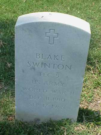 SWINTON (VETERAN WWII), BLAKE - Pulaski County, Arkansas | BLAKE SWINTON (VETERAN WWII) - Arkansas Gravestone Photos