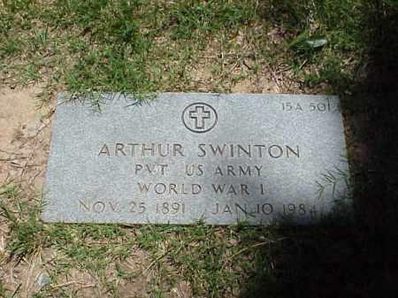 SWINTON (VETERAN WWI), ARTHUR - Pulaski County, Arkansas | ARTHUR SWINTON (VETERAN WWI) - Arkansas Gravestone Photos