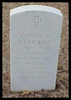 SYBRANT (VETERAN 3 WARS), ERWIN R - Pulaski County, Arkansas | ERWIN R SYBRANT (VETERAN 3 WARS) - Arkansas Gravestone Photos