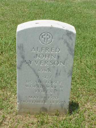 SYVERSON (VETERAN 2 WARS), ALFRED JOHN - Pulaski County, Arkansas | ALFRED JOHN SYVERSON (VETERAN 2 WARS) - Arkansas Gravestone Photos