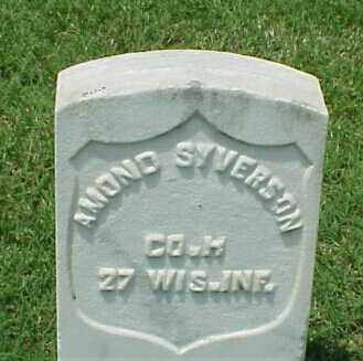 SYVERSON (VETERAN UNION), AMOND - Pulaski County, Arkansas | AMOND SYVERSON (VETERAN UNION) - Arkansas Gravestone Photos