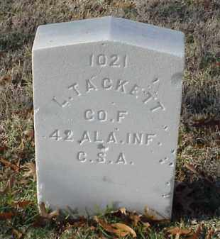 TACKETT (VETERAN CSA), L - Pulaski County, Arkansas | L TACKETT (VETERAN CSA) - Arkansas Gravestone Photos