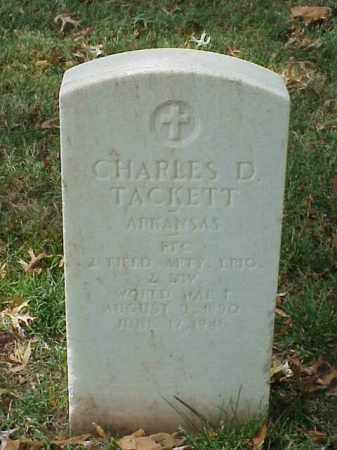 TACKETT (VETERAN WWI), CHARLES D - Pulaski County, Arkansas | CHARLES D TACKETT (VETERAN WWI) - Arkansas Gravestone Photos