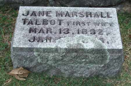 MARSHALL TALBOT, JANE - Pulaski County, Arkansas | JANE MARSHALL TALBOT - Arkansas Gravestone Photos