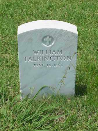 TALKINGTON (VETERAN UNION), WILLIAM - Pulaski County, Arkansas | WILLIAM TALKINGTON (VETERAN UNION) - Arkansas Gravestone Photos