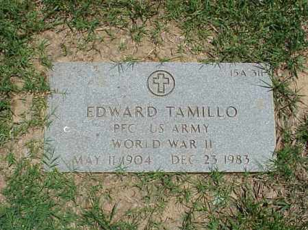 TAMILLO (VETERAN WWII), EDWARD - Pulaski County, Arkansas | EDWARD TAMILLO (VETERAN WWII) - Arkansas Gravestone Photos