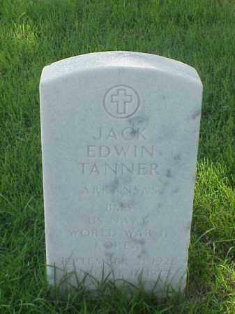 TANNER (VETERAN 2 WARS), JACK EDWIN - Pulaski County, Arkansas | JACK EDWIN TANNER (VETERAN 2 WARS) - Arkansas Gravestone Photos