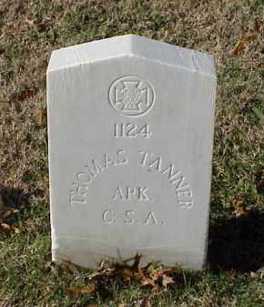 TANNER (VETERAN CSA), THOMAS - Pulaski County, Arkansas | THOMAS TANNER (VETERAN CSA) - Arkansas Gravestone Photos