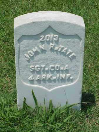 TATE (VETERAN UNION), JOHN R - Pulaski County, Arkansas | JOHN R TATE (VETERAN UNION) - Arkansas Gravestone Photos