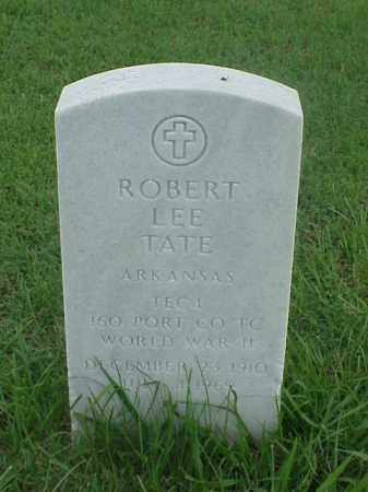 TATE (VETERAN WWII), ROBERT LEE - Pulaski County, Arkansas | ROBERT LEE TATE (VETERAN WWII) - Arkansas Gravestone Photos