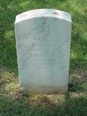 TATEM, ALICE - Pulaski County, Arkansas | ALICE TATEM - Arkansas Gravestone Photos