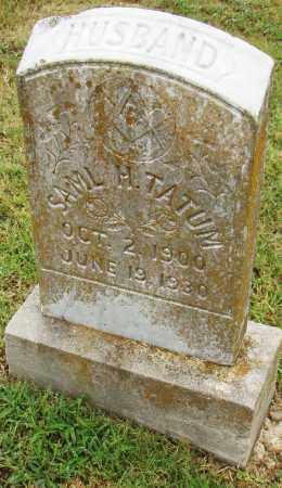 TATUM, SAMUEL H. - Pulaski County, Arkansas | SAMUEL H. TATUM - Arkansas Gravestone Photos
