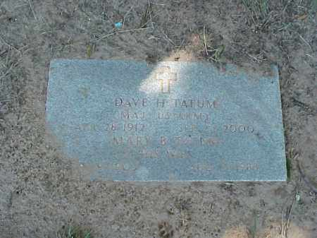 TATUM, MARY B - Pulaski County, Arkansas | MARY B TATUM - Arkansas Gravestone Photos