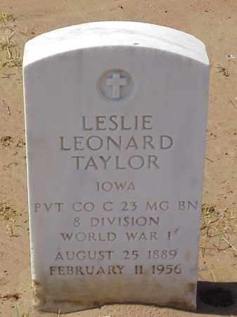 TAYLOR  (VETERAN WWI), LESLIE LEONARD - Pulaski County, Arkansas | LESLIE LEONARD TAYLOR  (VETERAN WWI) - Arkansas Gravestone Photos