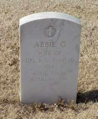 TAYLOR, ABBIE G - Pulaski County, Arkansas | ABBIE G TAYLOR - Arkansas Gravestone Photos