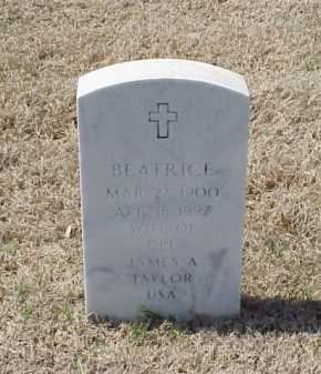 TAYLOR, BEATRICE - Pulaski County, Arkansas | BEATRICE TAYLOR - Arkansas Gravestone Photos