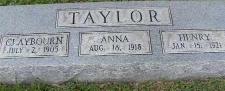 TAYLOR, ANNA - Pulaski County, Arkansas | ANNA TAYLOR - Arkansas Gravestone Photos