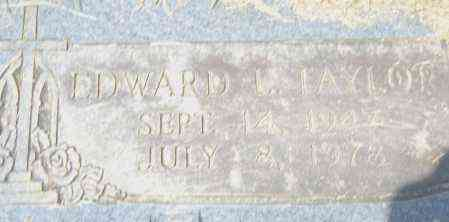 TAYLOR, EDWARD  L. - Pulaski County, Arkansas | EDWARD  L. TAYLOR - Arkansas Gravestone Photos