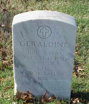 TAYLOR, GERALDINE - Pulaski County, Arkansas | GERALDINE TAYLOR - Arkansas Gravestone Photos