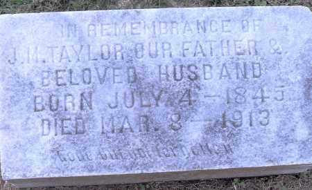 TAYLOR, J M - Pulaski County, Arkansas | J M TAYLOR - Arkansas Gravestone Photos