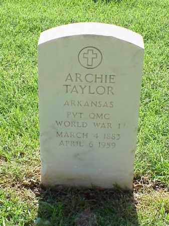TAYLOR (VETERAN WWI), ARCHIE - Pulaski County, Arkansas | ARCHIE TAYLOR (VETERAN WWI) - Arkansas Gravestone Photos