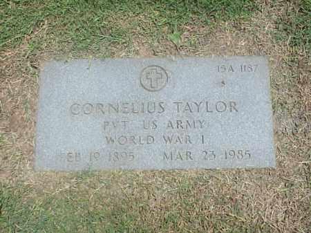TAYLOR (VETERAN WWI), CORNELUIS - Pulaski County, Arkansas | CORNELUIS TAYLOR (VETERAN WWI) - Arkansas Gravestone Photos
