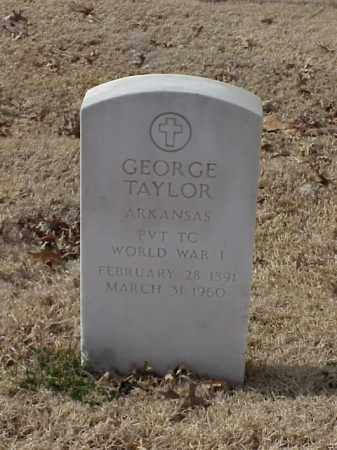 TAYLOR (VETERAN WWI), GEORGE - Pulaski County, Arkansas | GEORGE TAYLOR (VETERAN WWI) - Arkansas Gravestone Photos